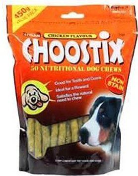 Choostix Chicken Dog Treat 450g Pack of 2