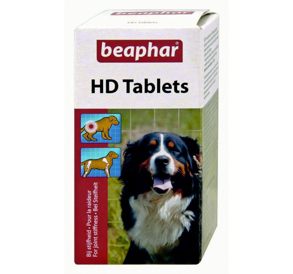 Beaphar HD (hip dysplasia) joint management tablets for dogs and cats all breed