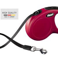 Flexi retracable dog leash red