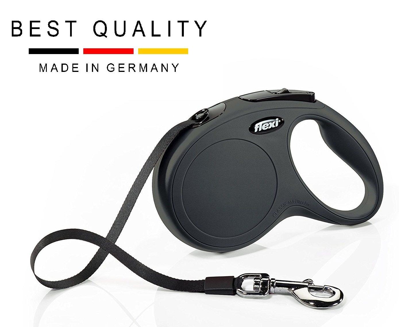 lexi retractable dog leash black