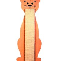 trixie cat scratching board cat shaped