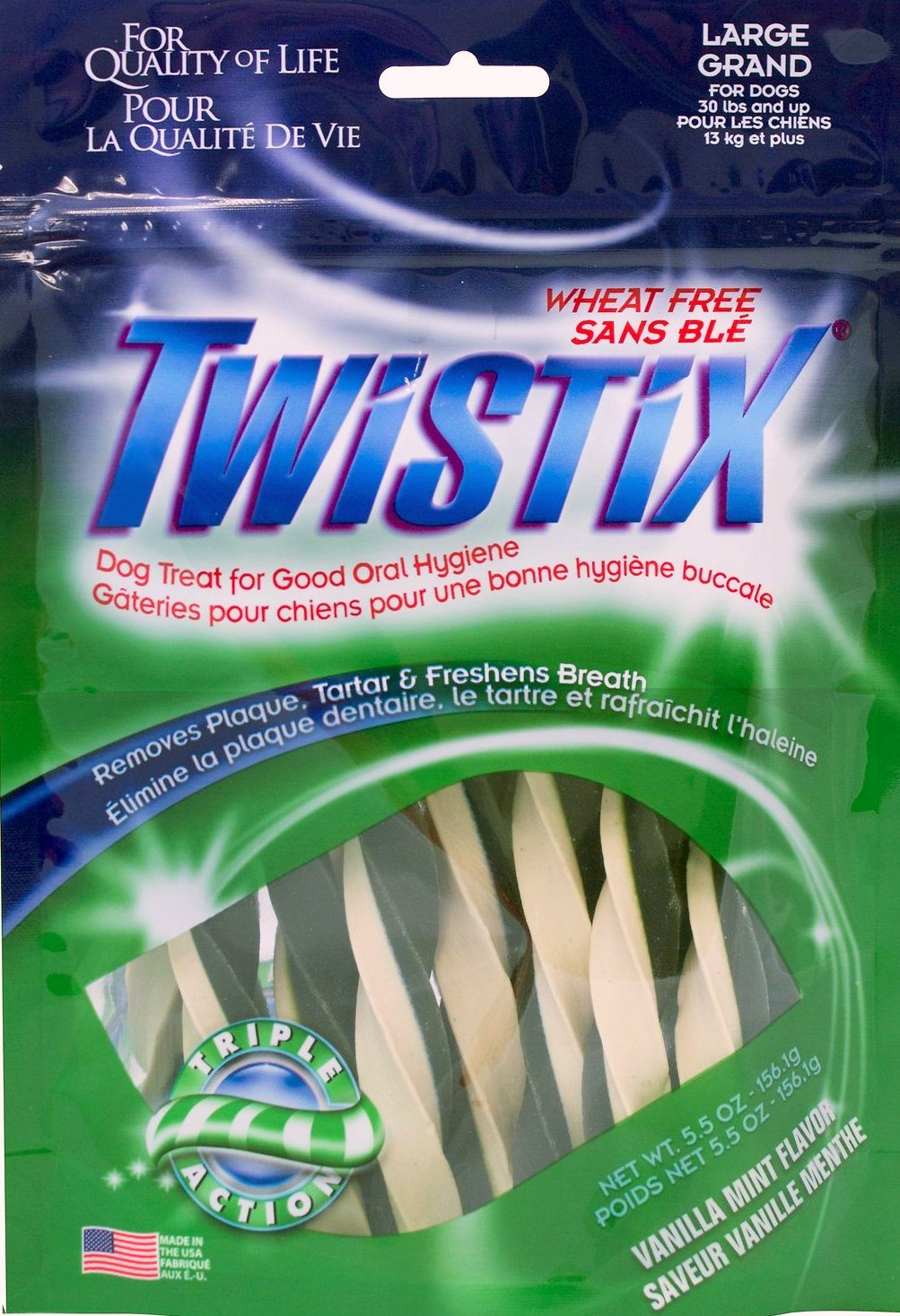 twistix vanilla mint dental chew sticks