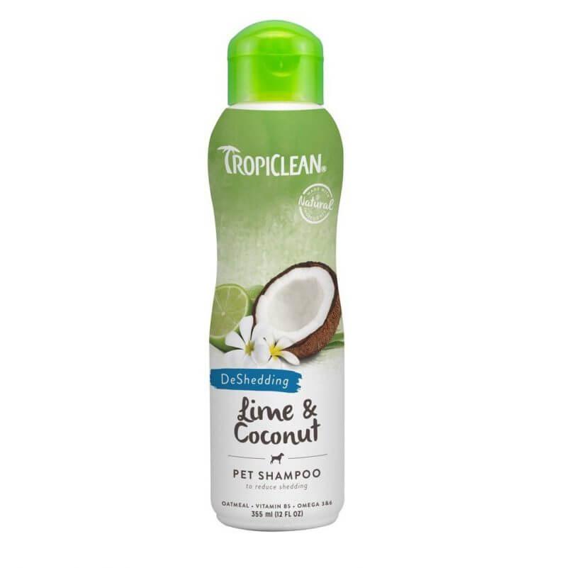 tropiclean lime coconut deshedding shampoo