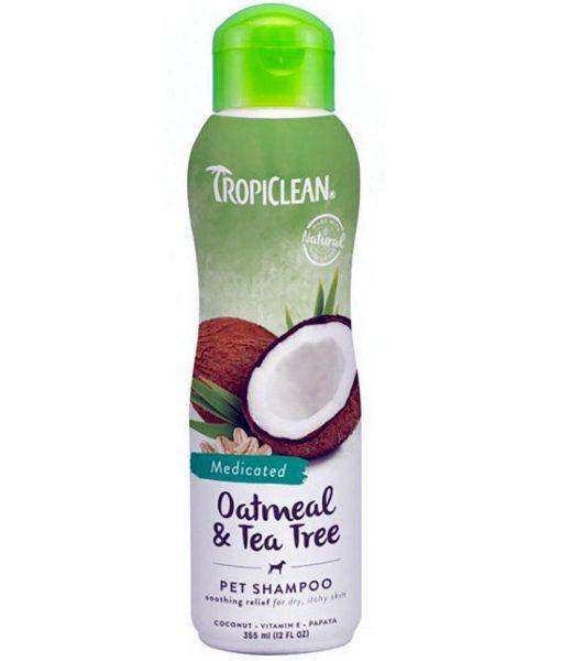 tropiclean oatmeal tea tree pet shampoo