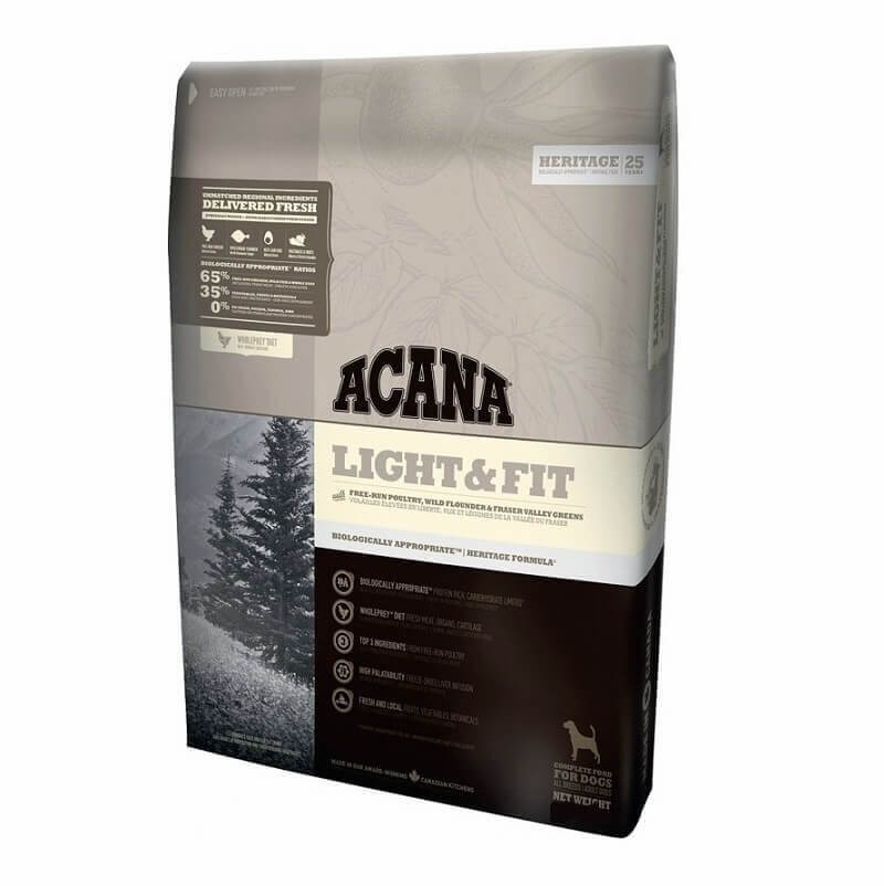 Acana light and fit dog food