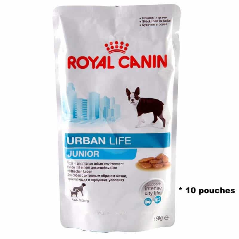 Royal Canin Urban Life Junior Wet Dog Food 10 150g Pouches