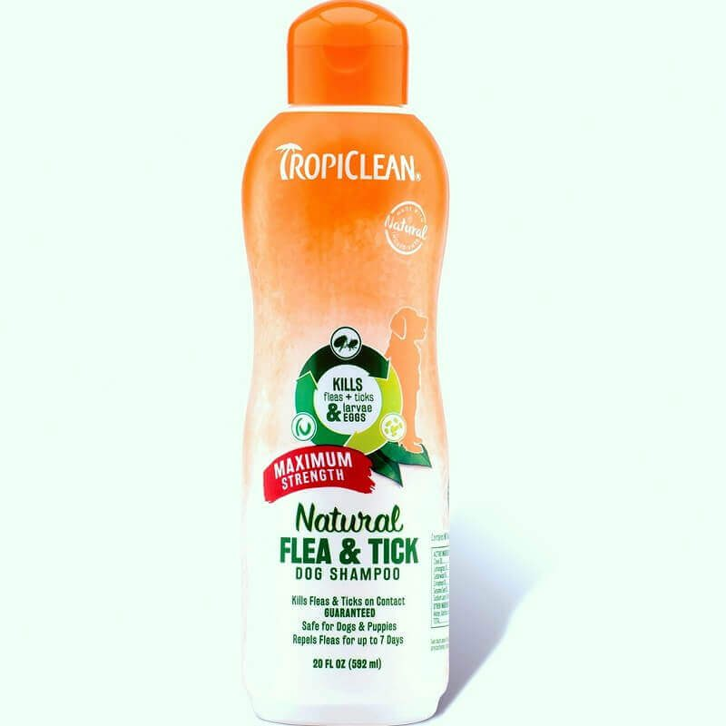 tropiclean natural flea tick shampoo maximum strength