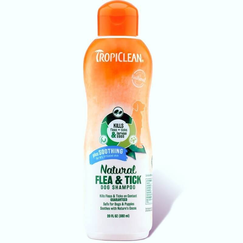tropiclean natural flea tick soothing shampoo