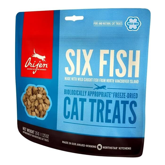 orijen six fish cat kitten treats