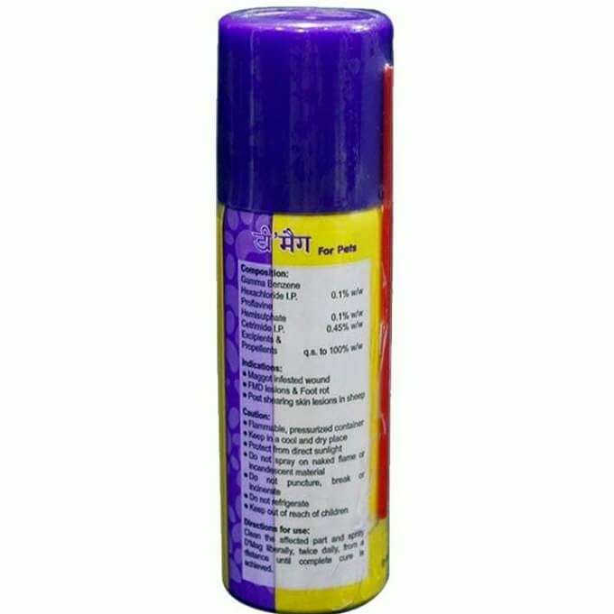 Dmag maggot spray back