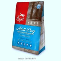 orijen freee dried adult dog food