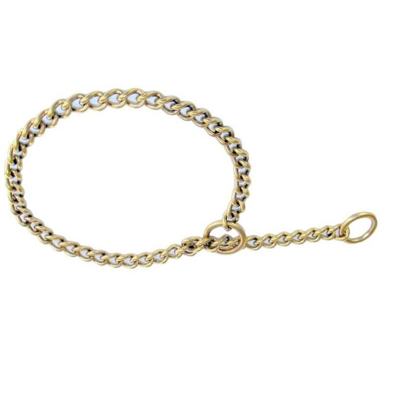 brass choke chain collar