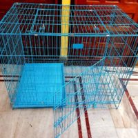 iron foldable dog cage