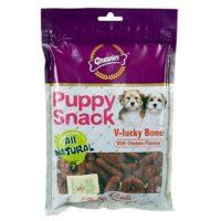 gnawlers puppy snacks vlucky bone chicken