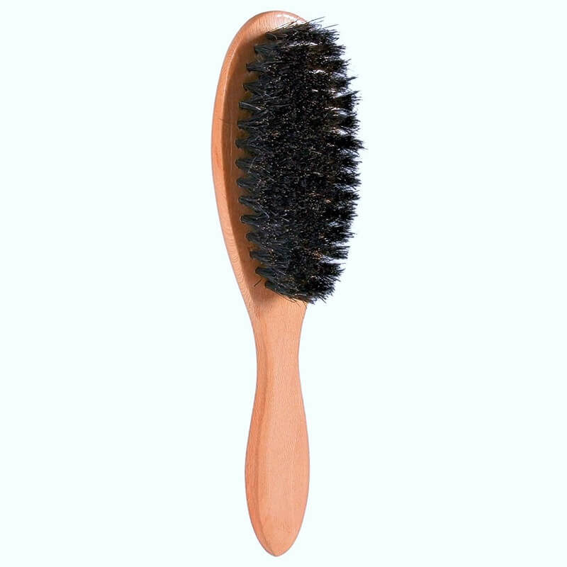 triie grooming brush with natural bristles