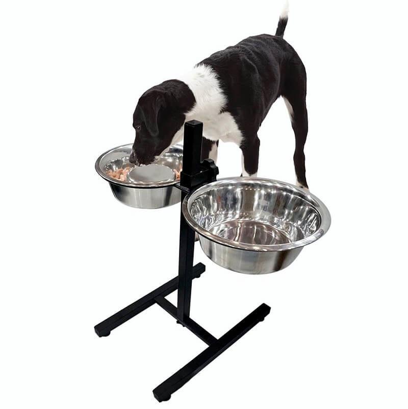 dog bowl stand height adjustable