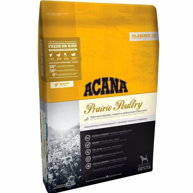 acana prairie poultry 17kg dog food