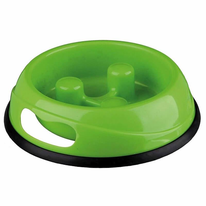 dog slow feed bowl green
