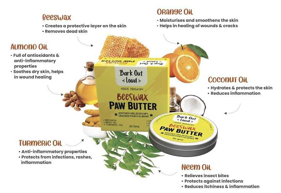 paw butter for dogs ingredients